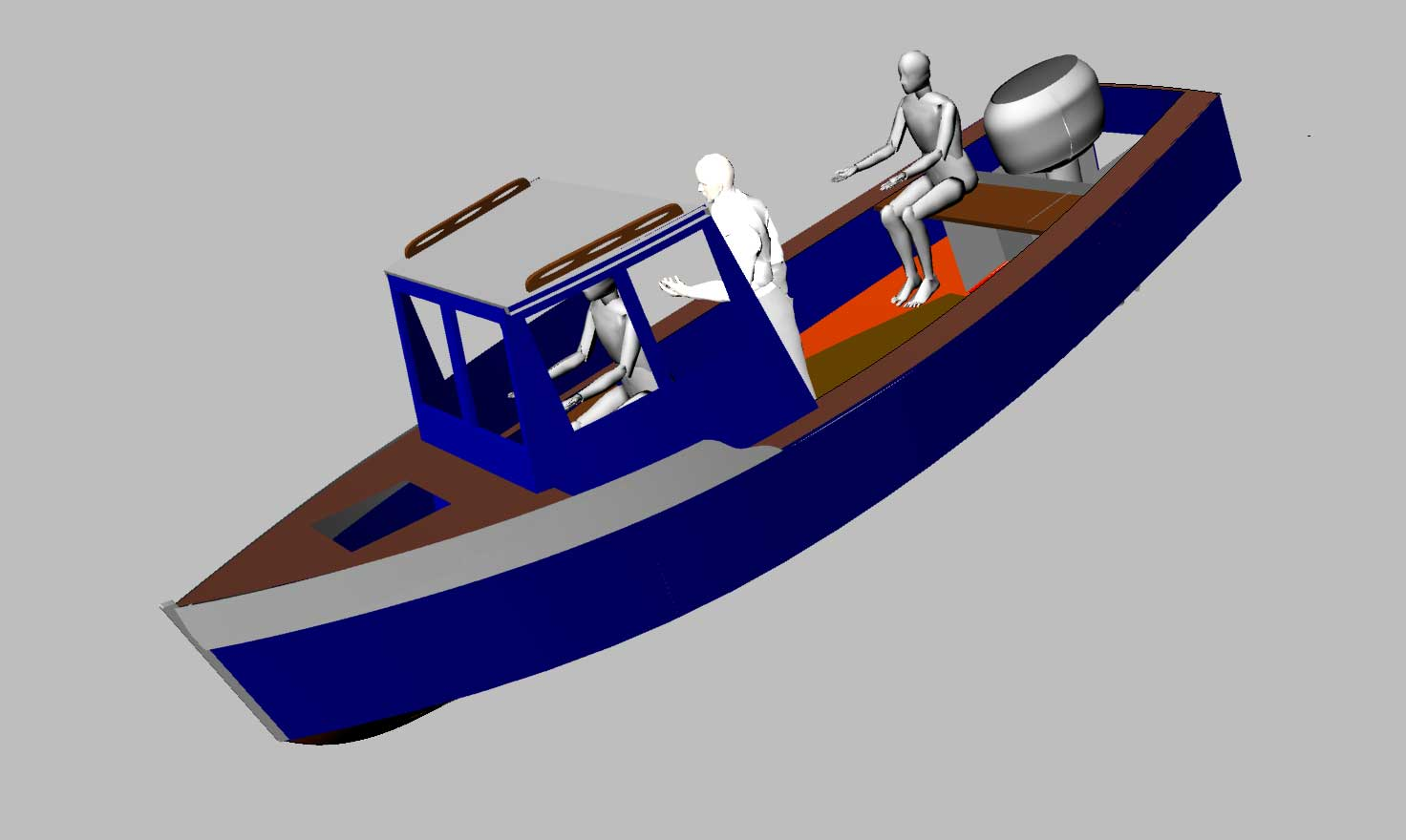 ... built in wood builder will use stitch and glue for hull construction